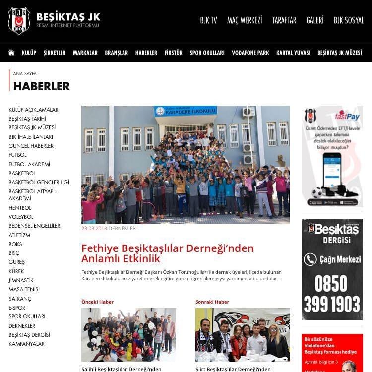 Bjk Sayfası Reklamı